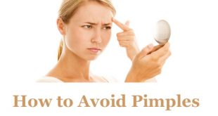 How to avoid pimples