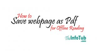 How to Save webpage as pdf Chrome